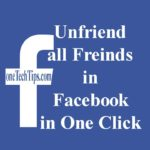 Unfriend all Freinds in Facebook in One Click