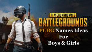 PUBG Names for Boys & Girls