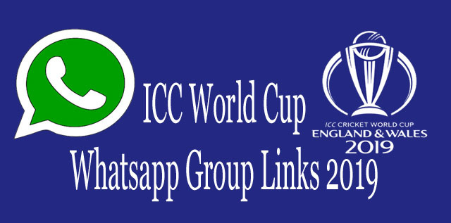 ICC World Cup Whatsapp Group Links 2019
