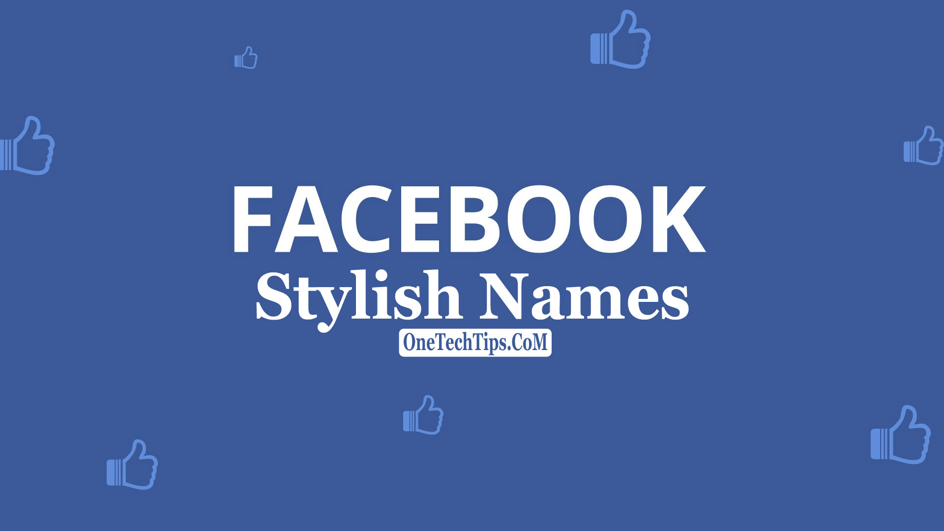 Facebook Stylish Name