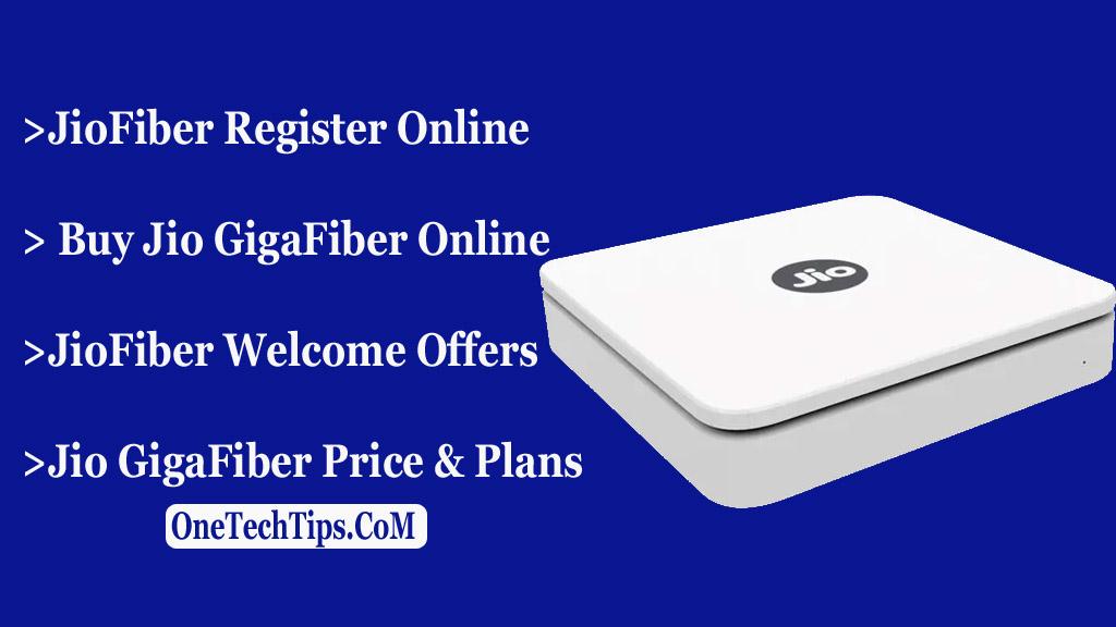 Buy Jio GigaFiber Online
